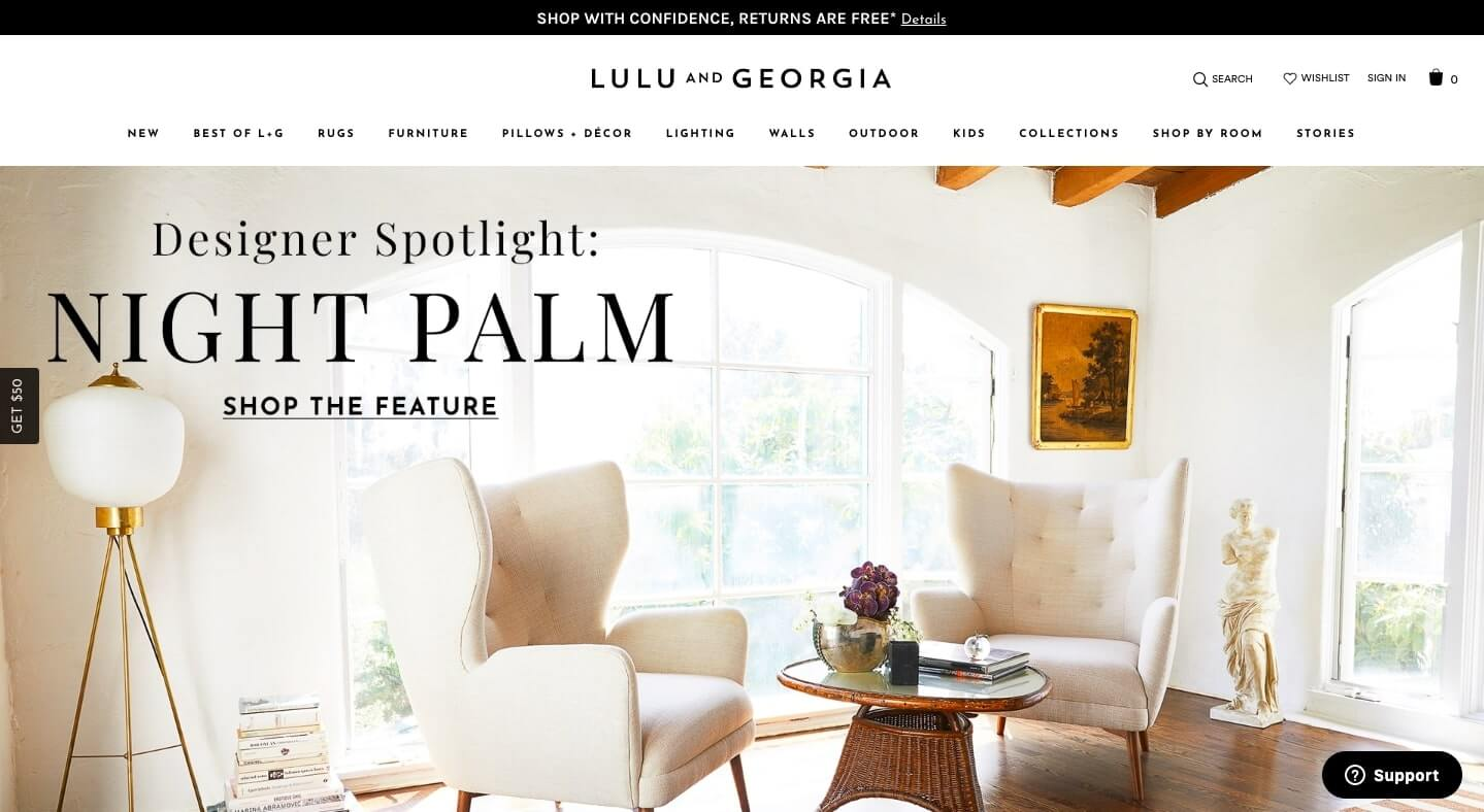 lulu & georgia website