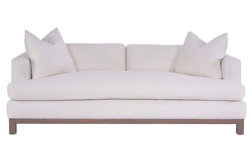 Greer Couch, Ivory Linen