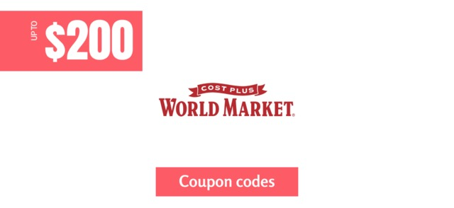 World Market $200 off