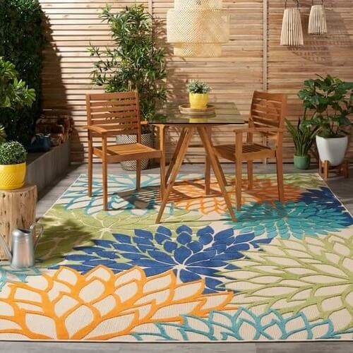 Nourison Aloha Floral Indoor / Outdoor Area Rug  from $39.99