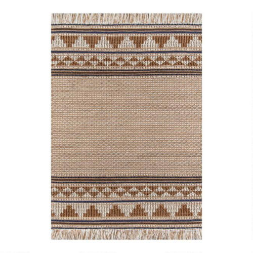 Brown And Natural Wool And Jute Neena Area Rug / $239.99 - $479.99