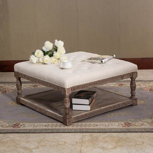 Cairona Tufted Textile 34-inch Shelved Ottoman Table from $239.49
