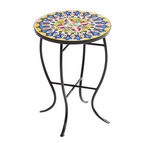 Yellow Multicolor Mosaic Accent Table / SALE $23.99